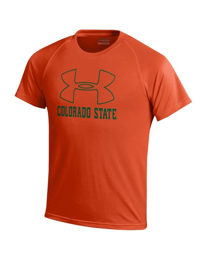 UNDER ARMOUR YTH UA LOGO COLO ST ORANGE  SS TEE