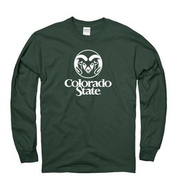 MOUNTAIN STATES YTH FOREST GREEN RAM LOGO LS TEE