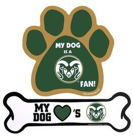 ALL STAR DOGS MY DOG LOVE'S CSU DOG BONE MAGNET