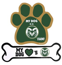 MY DOG LOVE'S CSU DOG BONE MAGNET