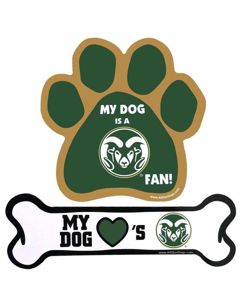 MY DOG LOVE'S CSU DOG BONE MAGNET
