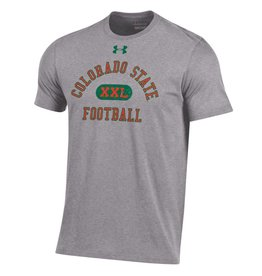 UNDER ARMOUR UA COLO STATE FOOTBALL ORANGE OUT TEE