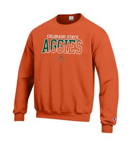 CHAMPION CUSTOM PRODUCTS AGGIES COLO STATE ORANGE CREW NECK SWEATSHIRT