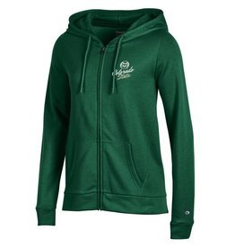 CHAMPION CUSTOM PRODUCTS LADIES FULL ZIP ECO COLO ST UNIV HOOD