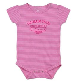 COLLEGE KIDS PRETTY IN PINK COLORADO STATE DIAPER SHIRT
