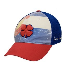 X COLO FLAG LIVE LUCKY TRUCKER HAT