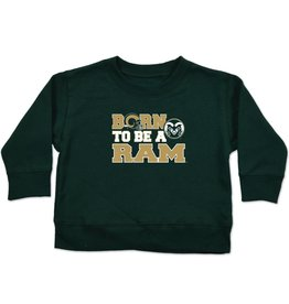 BORN TO BE A RAM FOOTBALL CREW SWEATSHIRT