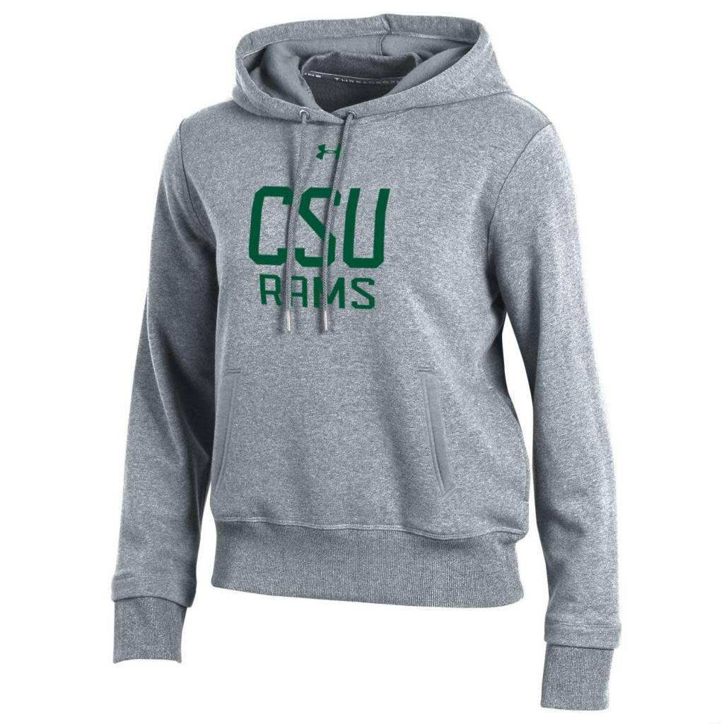 UNDER ARMOUR LADIES CSU THREADBORNE CROPPED HOODY