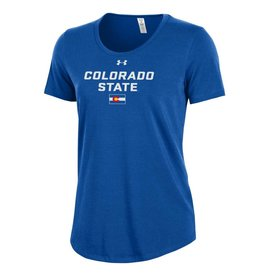 "UNDER ARMOUR LADIES UA COLORADO ""STATE"" PRIDE ROYAL GAME TEE"