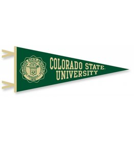 COLLEGIATE PACIFIC COLORADO STATE SEAL FLOCK PENNANT