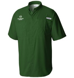 COLUMBIA- OCS RAM LOGO COLO ST TAMIAMI SHIRT- FOREST GREEN