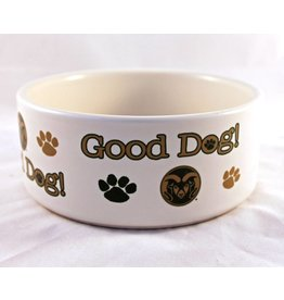 Colorado State Good Dog Ceramic Dog Bowl