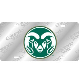 Colorado State Ram Logo Laser Frost License Plate