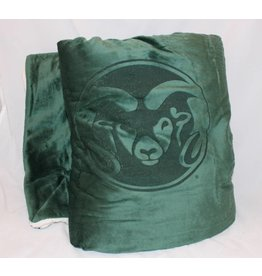 RAM LOGO MICRO BOA SHERPA FLEECE BLANKET- GREEN