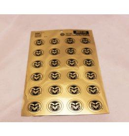 gold ram head stickers