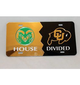 Colorado State/Colorado House Divided License Plate