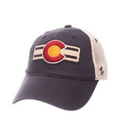 ZEPHYR COLORADO USA UNIV C WITH STRIPES HAT- NAVY/MESH ADJ