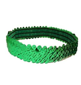 Sequin Headband-GREEN