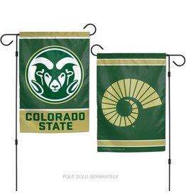 2 SIDED GARDEN FLAG- RAM LOGO & RAM HORN