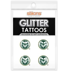 SPIRIT GEAR CENTRAL COLO ST RAM GLITTER TATTOOS 4 PACK
