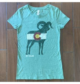 State of Colorado Ladies Ram Tee
