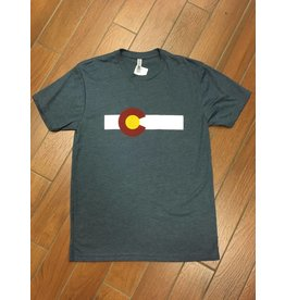 ST OF COLO FLAG STRIPE TRI-BLEND TEE