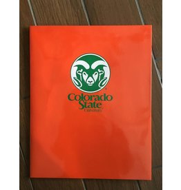 COLORADO STATE RAM LOGO POCKET FOLDERS-ORANGE
