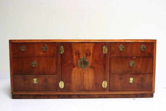 CAMPAIGN CREDENZA WITH ASIAN HARDWARE