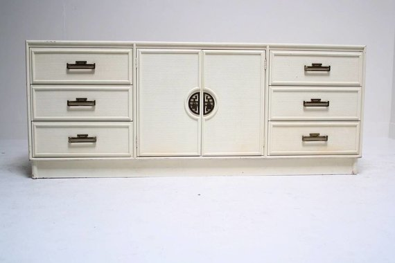 MING CREDENZA WITH WOVEN DETAIL