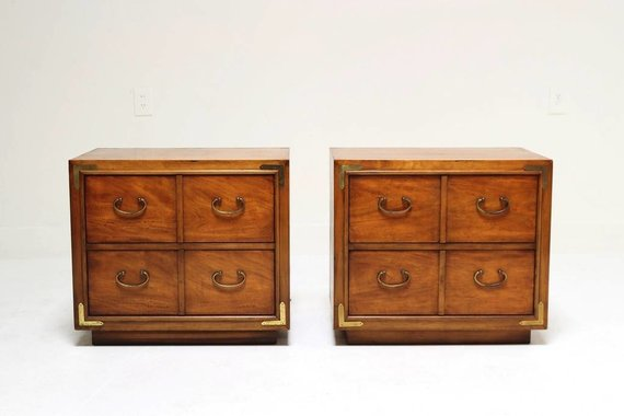 PAIR OF NIGHTSTANDS WITH MING HARDWARE