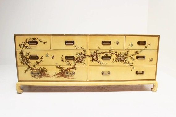 CAMPAIGN DRESSER WITH MING DETAIL