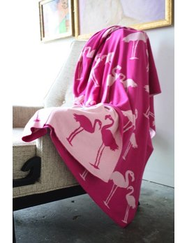 SCOUT LABEL PINK FLAMINGO BLANKET