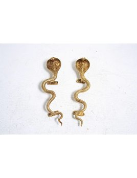 LARGE COBRA HARDWARE POLISHED BRASS RIGHT