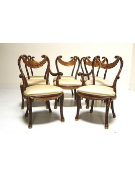 SET OF 8 TRADITIONAL DINING CHAIRS