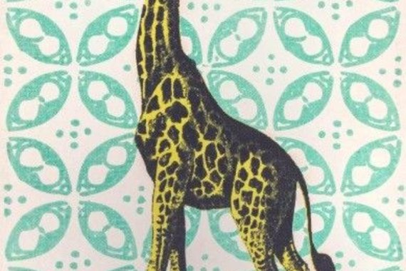IT'S A GIRAFFE RUG! IN GREEN