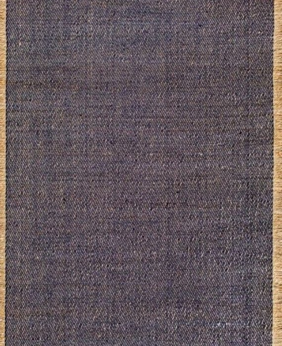 FLATWEAVE BLUE AND TAN RUG