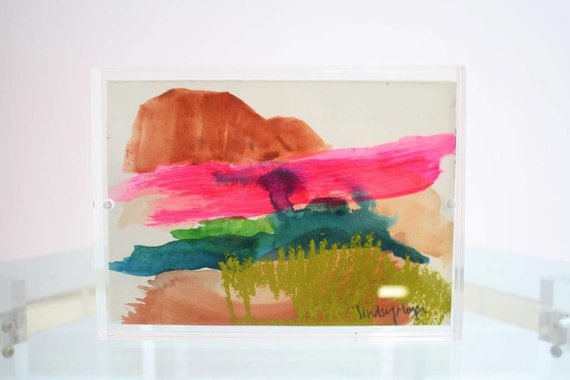 NI ARTWORK IN ACRYLIC BLOCK BY LINDSEY MEYER