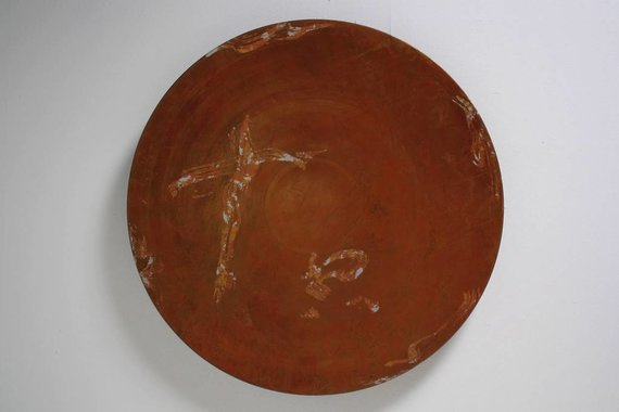 LARGE COPPER DISC WALL SCULPTURE