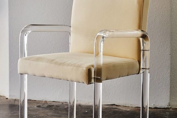 GRAHAM CHAIR IN IVORY VELVET