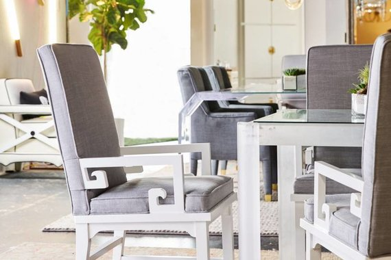 MARINA DINING CHAIR IN MIST LINEN