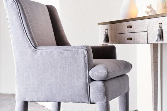 MARLON CHAIR IN GRAPHITE LINEN