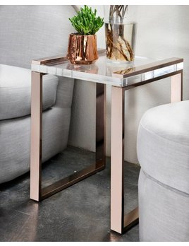 ORLEANS ACRYLIC TABLE IN CHOCOLATE BRONZE