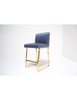 LINDEN BAR STOOL IN MIDNIGHT BLUE