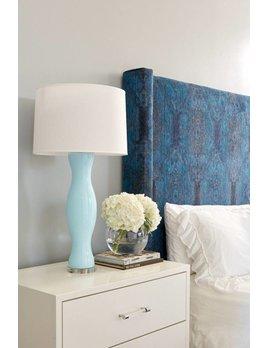 SOMERSET LAMP IN AQUA BLUE