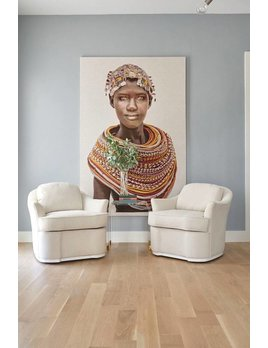 WOVEN TEXTILE ARTWORK BY MARIO GERTH - SAMBURU GIRL