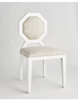 EDNA DINING CHAIR IN IVORY TWEED