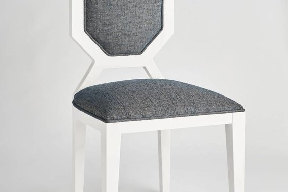 EDNA DINING CHAIR IN GREY TWEED