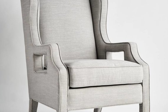 JULIANNE CHAIR IN MIST LINEN