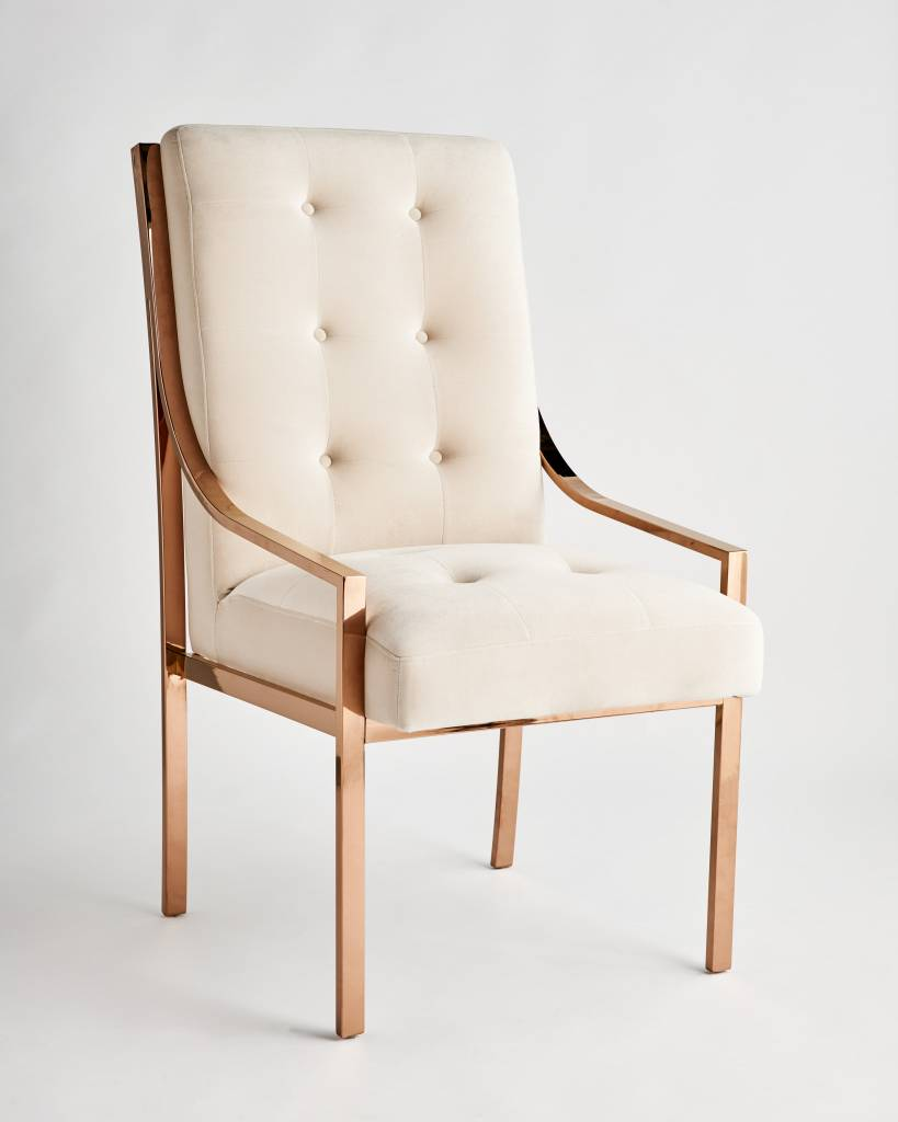 mcclain dining chair in rose gold. mcclain dining chair in rose gold  scout design studio