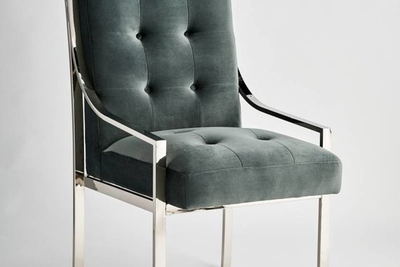 MCCLAIN DINING CHAIR IN CHROME